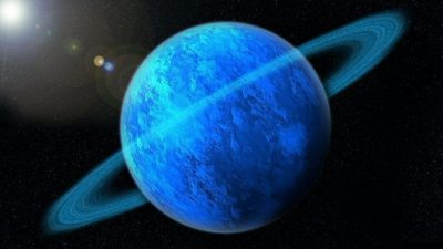 The planet Uranus.
