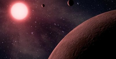 A planetary system has been discovered.